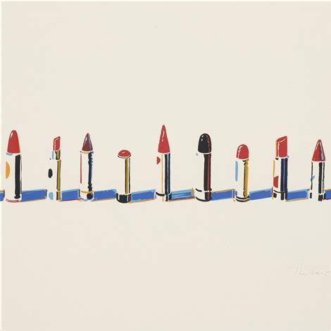 Seven Lipstick lipstick row from seven still lifes and a rabbit by wayne