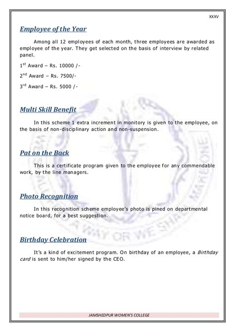 employee of the month criteria template rewards recognition