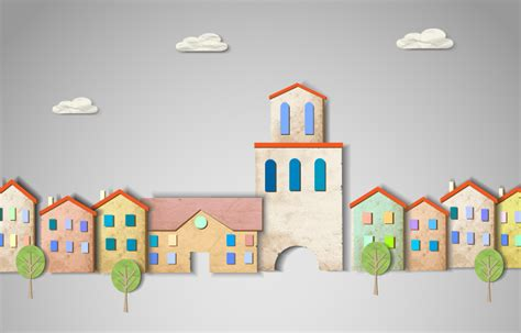 design house construction free creative city buildings background vector free vector
