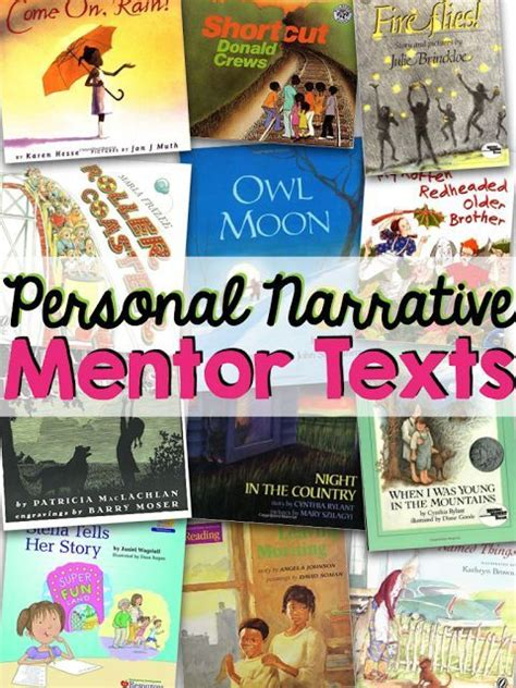 Biography Mentor Text | 12 books to teach personal narrative personal narratives