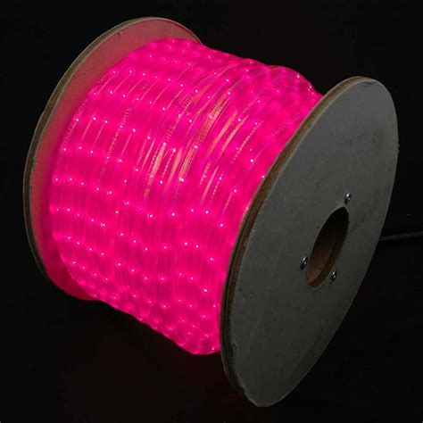 150 feet pink incandescent rope light spool 1 2 quot 120v