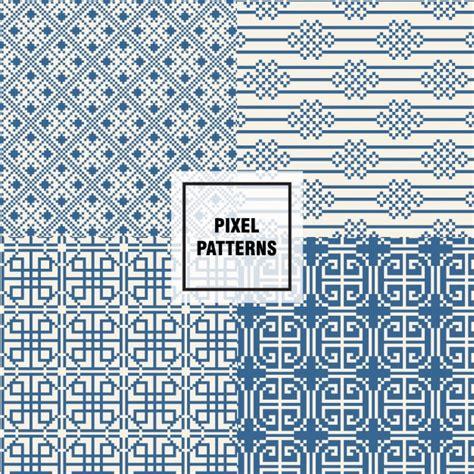 pixel pattern ai pixel patterns design vector free download