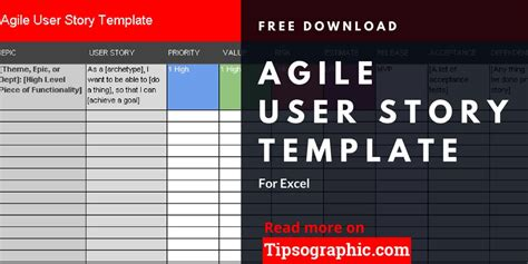 Agile User Story Template For Excel Free Download Tipsographic Agile Epic Template