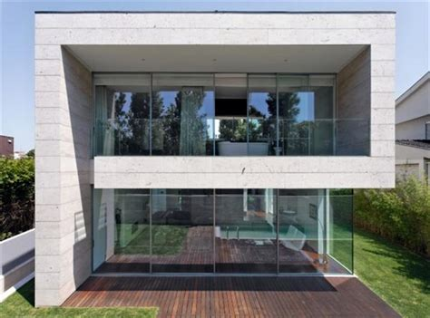 open block the modern glass and concrete house design by