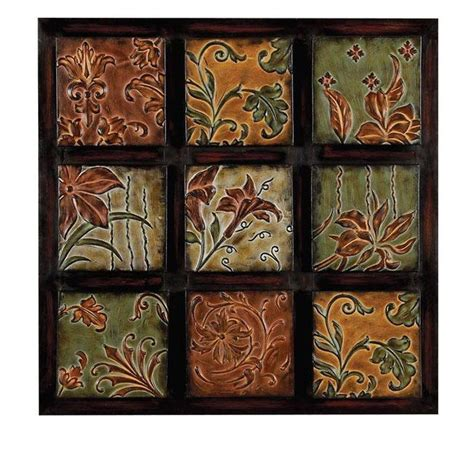 home decorators collection 32 in multi colored metal wall