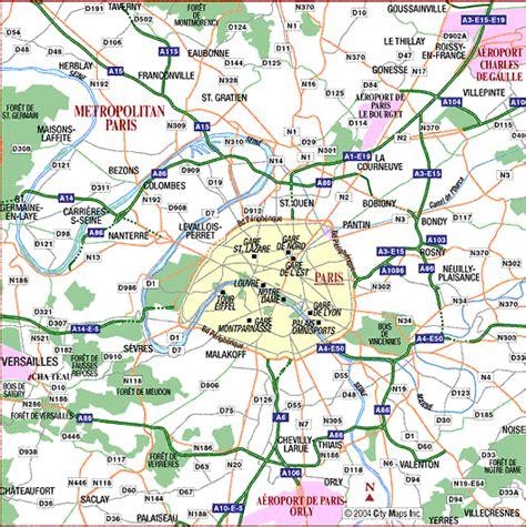 printable paris road map maps street map paris france