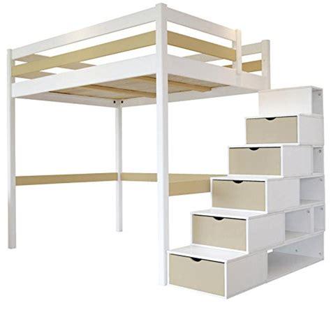 Hochbett Mit Stufen Treppe by Hochbett Sylvia 120 X 200 Treppe Cube 2 Sitzer Holz Wei 223