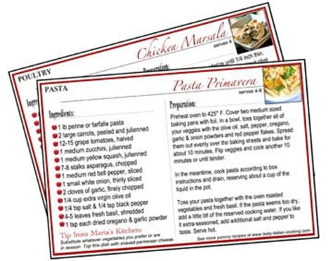 printable italian recipes printable italian recipe cards tasty italian cooking
