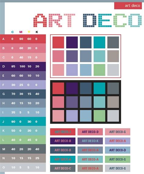 color combination for website art deco color scheme exles for color seminars