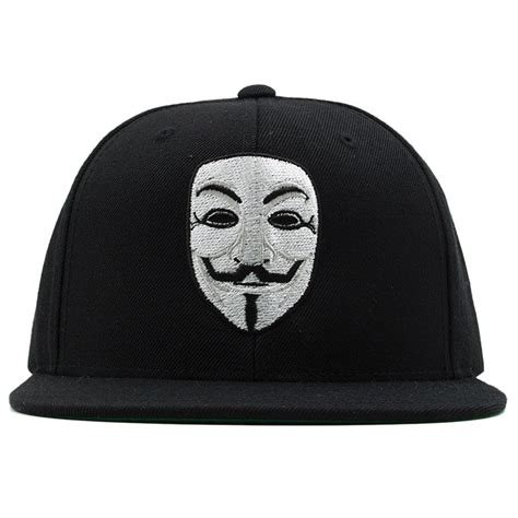 Topi Snapback Anonymous Vendeta 1 anonymous fawkes v for vendetta mask snapback hat cap swag