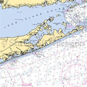 New york hamptons long island sound nautical chart decor
