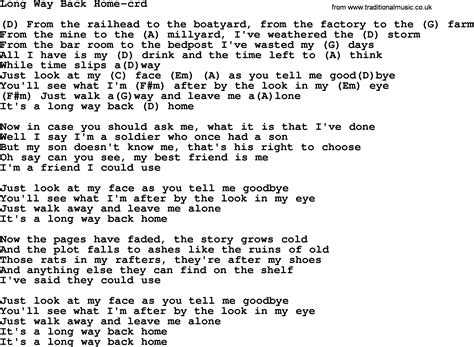 way back home by gordon lightfoot lyrics and chords
