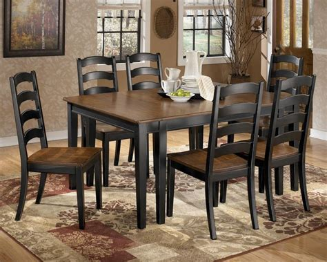 Furniture 7 Extension Dining Room Set In Graphite Owingsville 7 Dining Room Extension Table Set By Signature Design By Becker