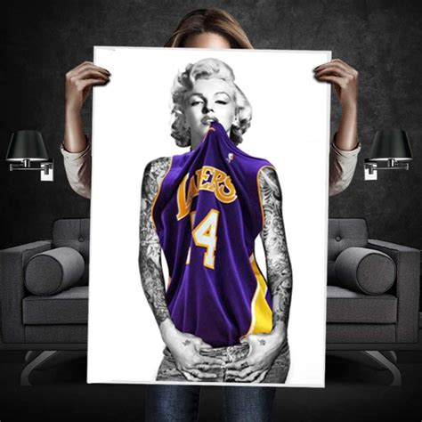 marilyn monroe with tattoos poster marilyn lakers s poster wehustle