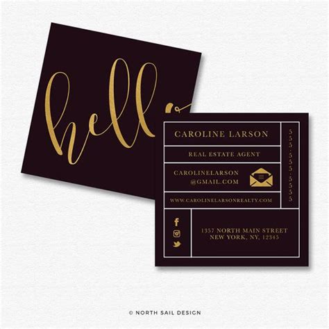 Gotprint Square Business Card Template by 1000 Ideas About Gold Business Card On