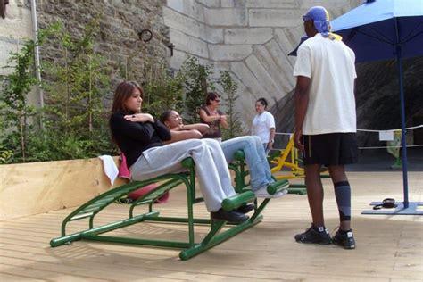 outdoor sit up bench community equipment walker equipment equipment