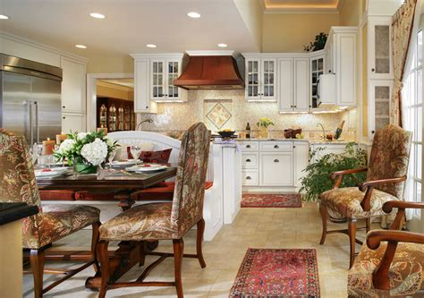 Kitchens With Banquettes by White Kitchen With Walnut Table And Banquette For Family