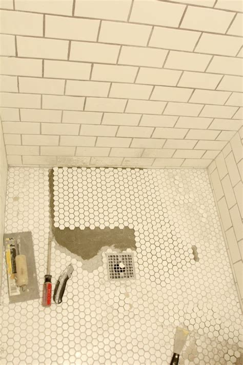 retile bathroom floor if at you don t succeed a shower floor tale