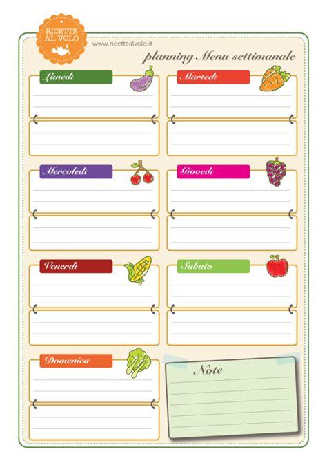 elenco spesa alimentare menu settimanale e lista della spesa stabili ricette