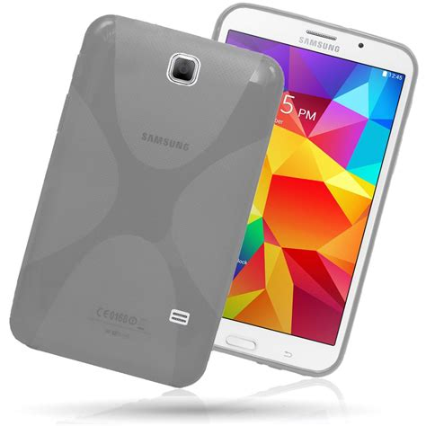 x line clear tpu gel back cover for samsung galaxy tab 4 7 0 quot t230 t231 ebay