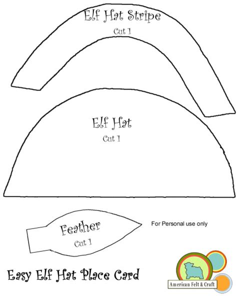 pattern for paper elf hat felt elf hat american felt craft blog