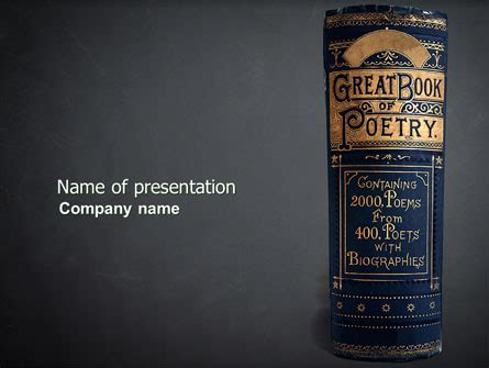 powerpoint themes poetry book of poetry presentation template for powerpoint and