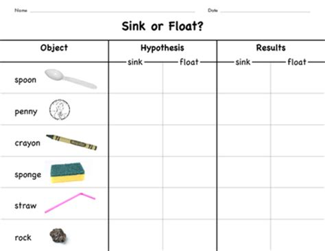 preschool science sink or float no time for flash share this idea