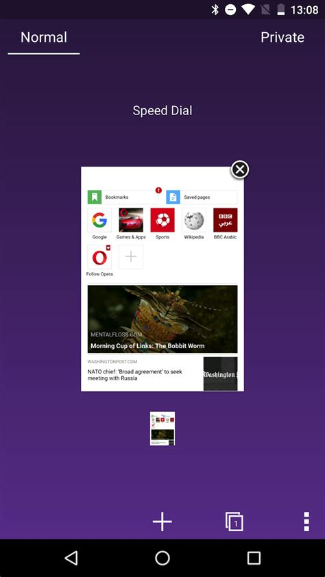 opera mini android themes opera mini beta adds color themes so you can dump that red