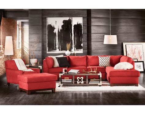 Red Furniture Ideas | modern living rooms design with red couch and red sofa red