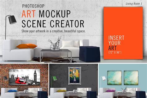 material design mockup creator art mockup scene creator lr1 product mockups on creative