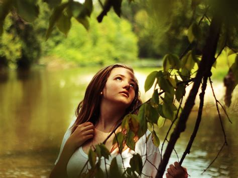 wallpaper girl in nature girl in nature young and beautiful girl amazed in nature