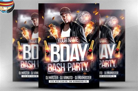 bday bash flyer template 2 flyer templates on creative