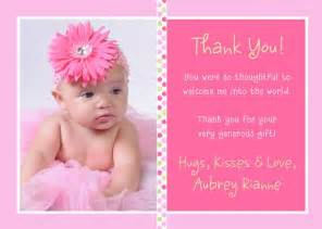 thank you card for baby gifts
