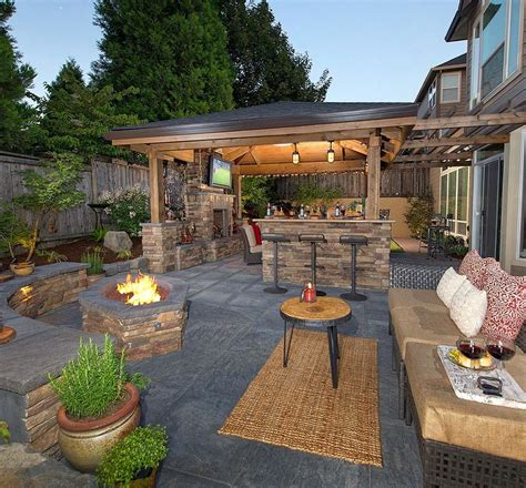 Putting It Together An Outdoor Room by Firepit Bar Island Fireplace Living Room Putting Gree