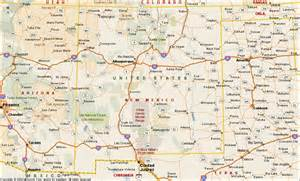 where is new mexico on the map of united states new mexico map