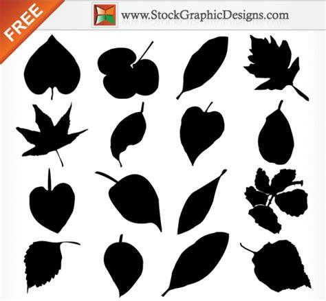 imagenes vectoriales gratuitas leaf silhouettes free vector graphics vector free download