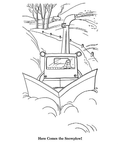 snow plow coloring pages coloring home