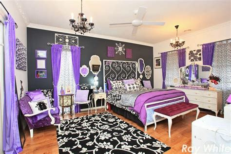 black white purple bedroom the gallery for gt purple and black room