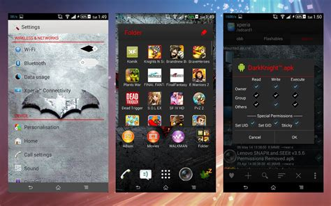 photo themes apk install custom xperia darkknight theme x white grayscale