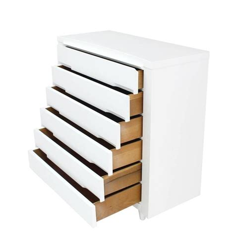 mid century chest of drawers white nice mid century modern white lacquer high chest of