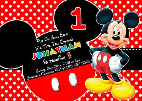 Mickey Mouse Place Card Template by New Collection Mickey Mouse Clubhouse Birthday Invitations