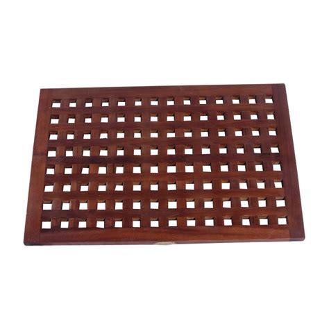 decoteak 23 x 15 in grate teak spa shower and floor mat