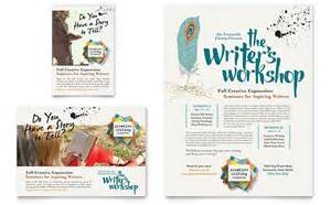 writer s workshop flyer amp ad template design