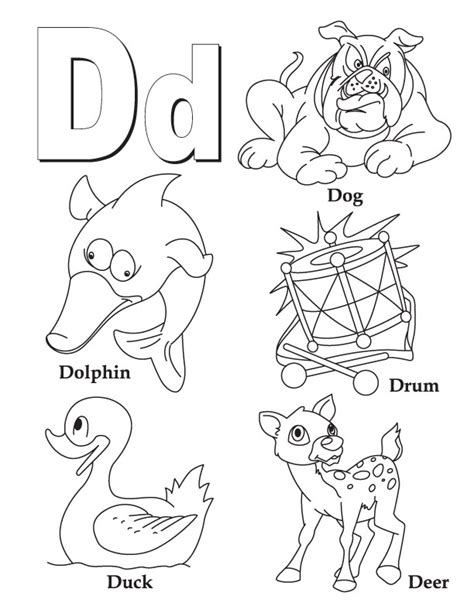 d coloring pages for kindergarten letter d coloring pages az coloring pages