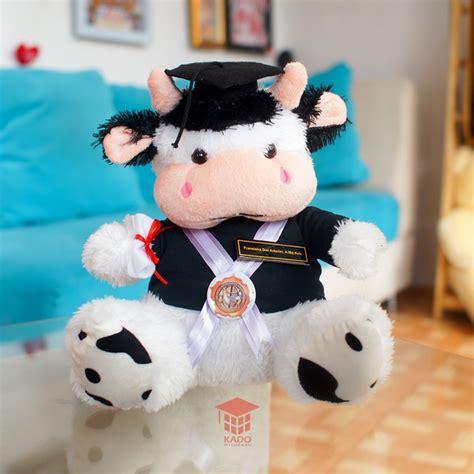 Boneka Wisuda Sapi jual hadiah wisuda skripsi boneka sapi cow murah kado