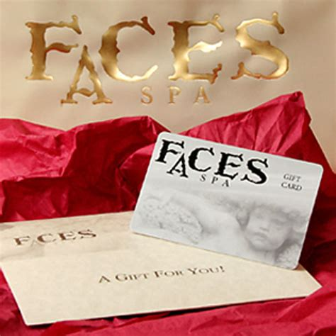 Facial Gift Cards - faces spa gift card faces spa
