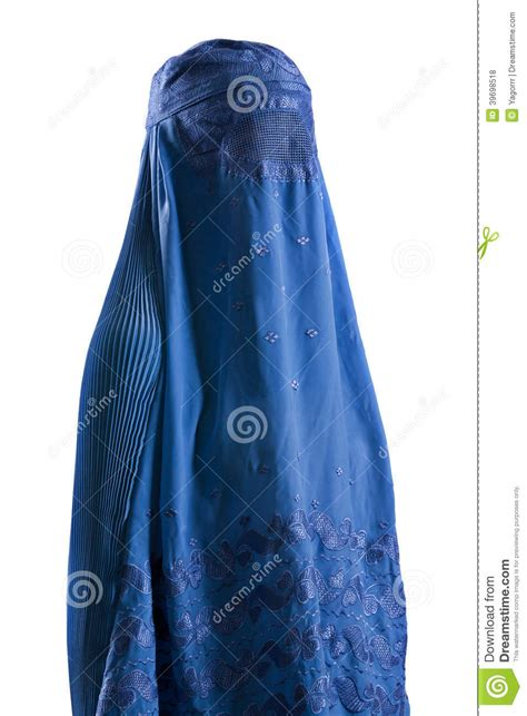 Blus Muslim White muslim blue burqa stock photo image of isolation