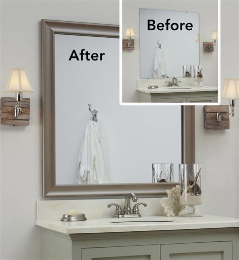 decorate a bathroom mirror bathroom mirror ideas 4468