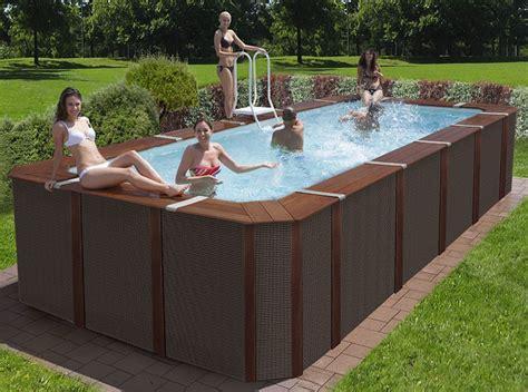 piscina smontabile da giardino 20 modelli di piscine fuori terra in legno mondodesign it