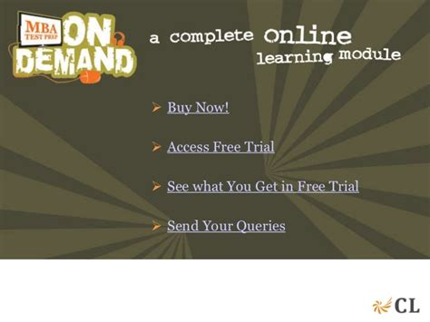 Cl Mba On Demand by Mba Test Prep On Demand Demo2